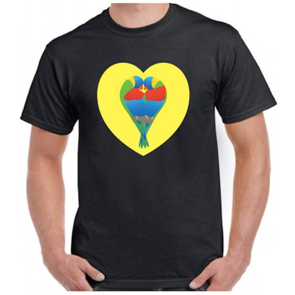 Coastal Twist T-shirt - Black (front)