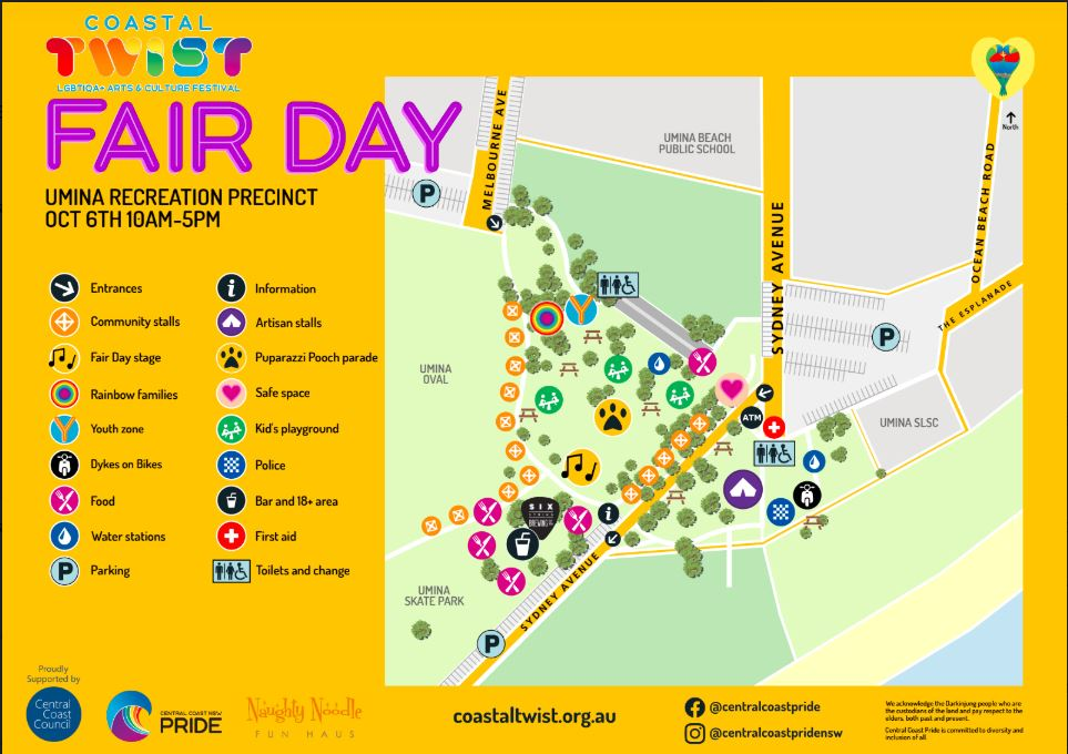 Coastal Twist Fair Day Map