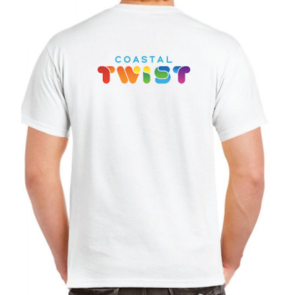 Coastal Twist T-shirt - White (back)